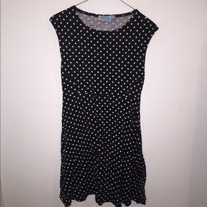 casual polka dot dress